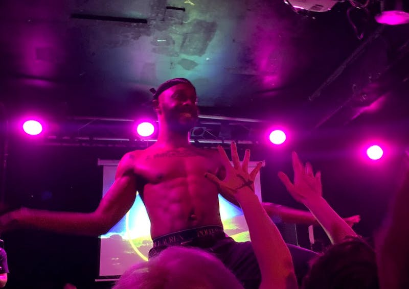 COURTESY OF ALEX HECKSHER GOMES JPEGMAFIA performed at the Ottobar in Baltimore for an animated and sweat-drenched crowd.