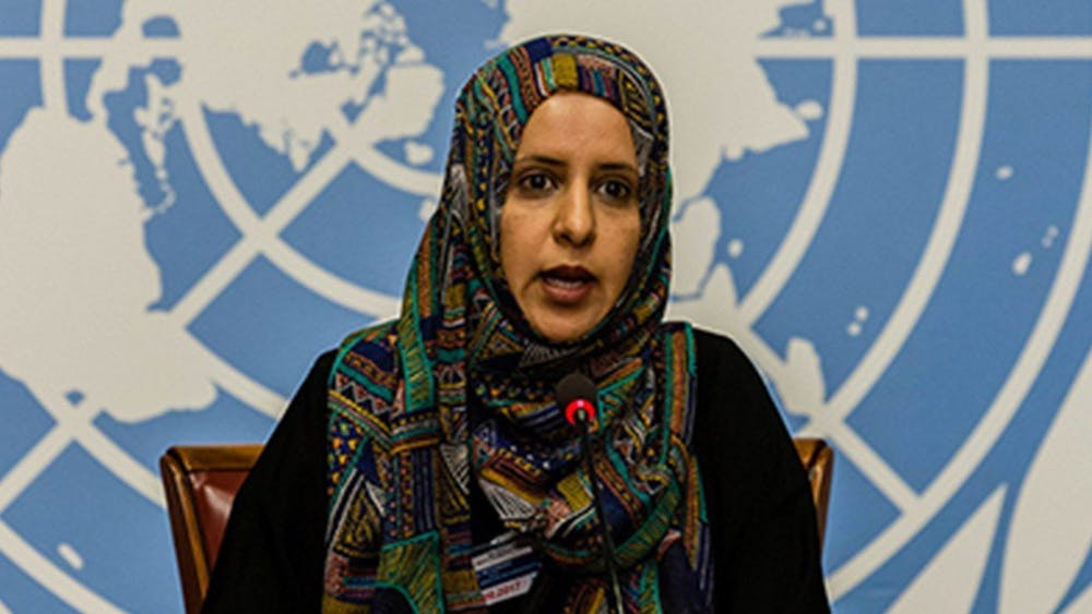 CC BY-NC-SA 4.0/MIDDLE EAST MONITOR  Radhya Al-Mutawakel emphasized that the U.S. should urge the international community to aid in combating the Yemeni Crisis.