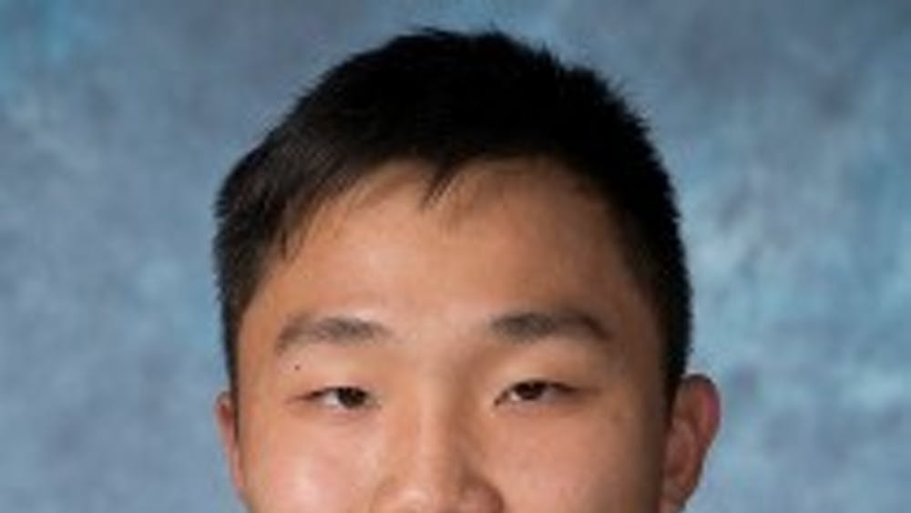 Senior athlete Matthew Su.