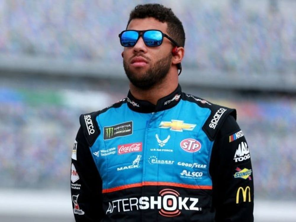 COURTESY OF SEAN GARDNER VIA GETTY IMAGES Wallace, who drives the no. 43 car for Richard Petty Motorsports, is currently the only Black driver in NASCAR's top division.