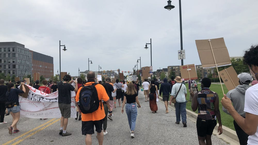COURTESY OF RUDY MALCOM Held in solidarity with Black Lives Matter, the march aimed to center the experiences of East Baltimore residents.