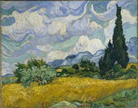 PUBLIC DOMAIN Wheat Field with Cypresses by Vincent Van Gogh