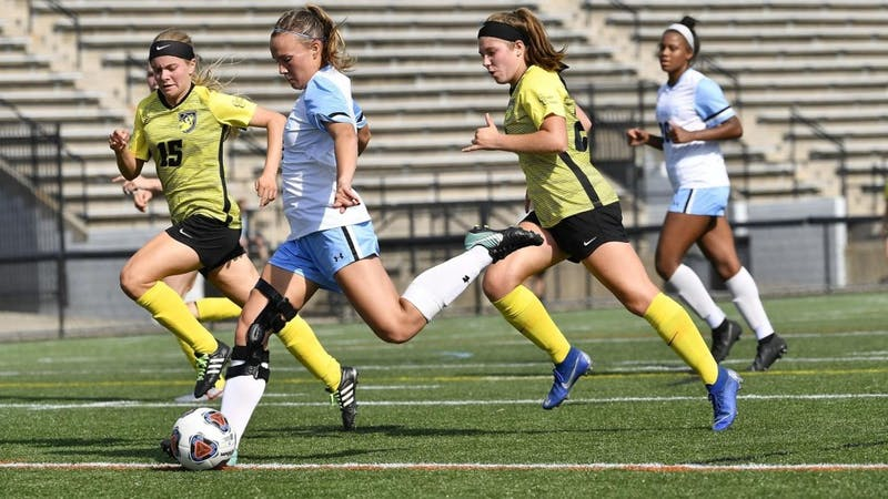 Riley O'Toole tallied two goals in Hopkins 6-0 win against Bryn Mawr.