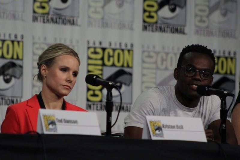 DOMINIQUE REDFEARN/CC BY 2.0 Actress Kristen Bell plays Eleanor Shellstrop, the protagonist of the tv series The Good Place.