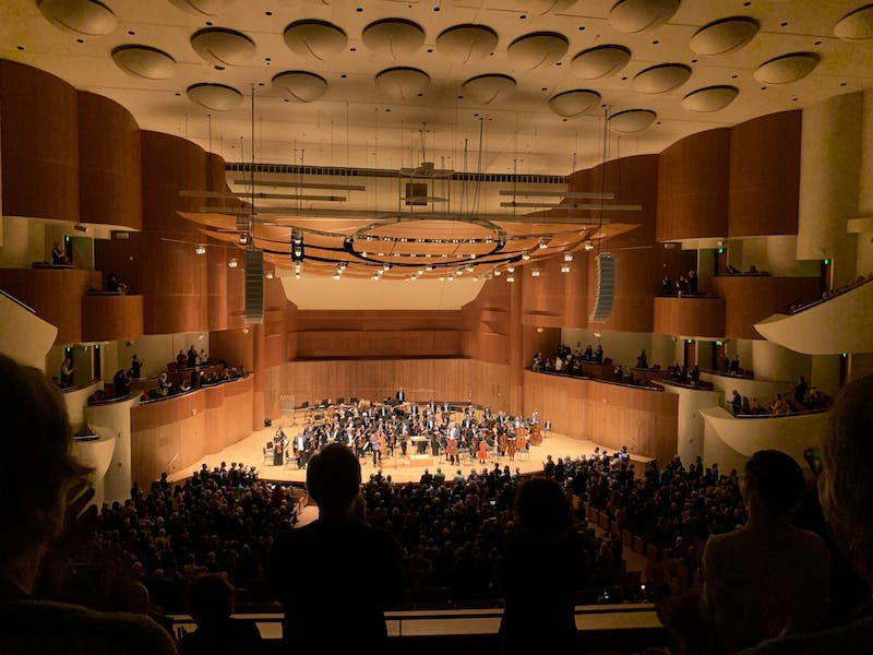 COURTESY OF KATY OH  Cellist Sheku Kanneh-Mason, performed at the Meyerhoff Symphony Hall downtown.
