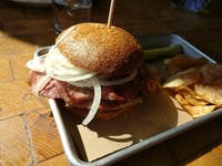 COURTESY OF JESSE WU The dad bod: a mashup of smoked ham, pit beef, and polish sausage.