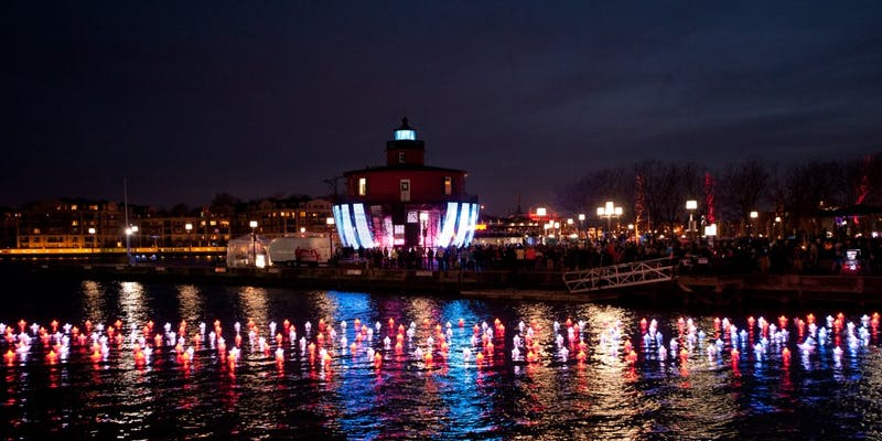 MARYLAND GOV PICS/CC BY-SA 2.0 A photo of the Harbor from the inaugural Light City; there are sure to be more great photo ops this weekend.