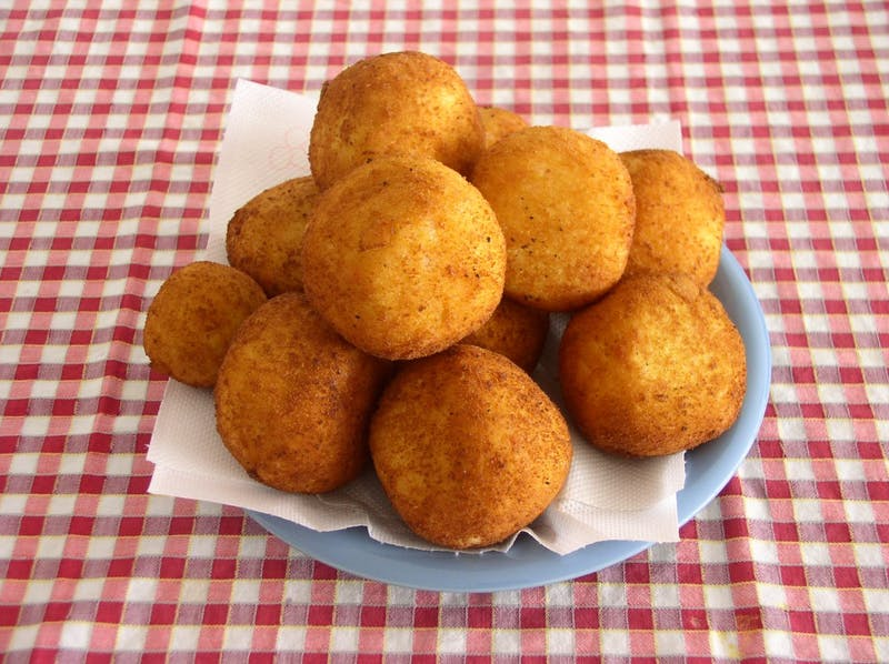 PUBLIC DOMAIN A go-to dish from home is the arancini at his uncle's deli in Fairfield.