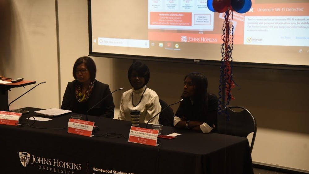 Courtesy of Stephanie Lee Women discussed challenges in running for office at Wednesday's panel.