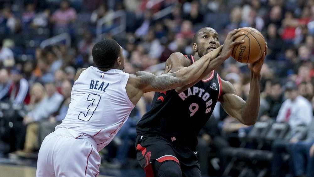 KEITH ALLISON / CC BY-SA 2.0 Toronto Raptors forward Serge Ibaka may be on the move this offseason.