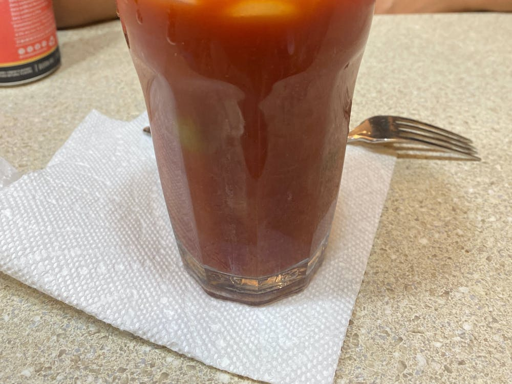 COURTESY OF LAURA WADSTEN Wadsten describes her love for Bloody Mary's, a tasty drink that doubles as a snack.