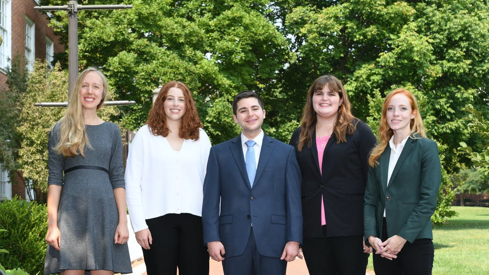 COURTESY OF JIM BURGER PHOTOGRAPHY (From left to right) Alexandra Rindone, Elana Ben-Akiva, Ariel Yosef Isser, Alycen Wiacek and Julie Shade have all been named Sibel Scholars for the year 2022.