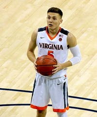 RIKSTER2/CC BY-SA 4.0 Kyle Guy hit clutch free throws to help Virginia win the National Championship.