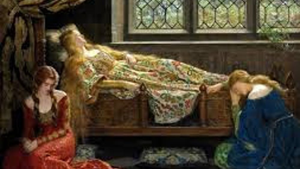 PUBLIC DOMAIN In one version of Sleeping Beauty, the prince waltzes into the castle with no dragon to slay.