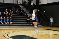 HOPKINSSPORTS.COM Junior outside hitter Louisa Kishton and the Blue Jays are undefeated.
