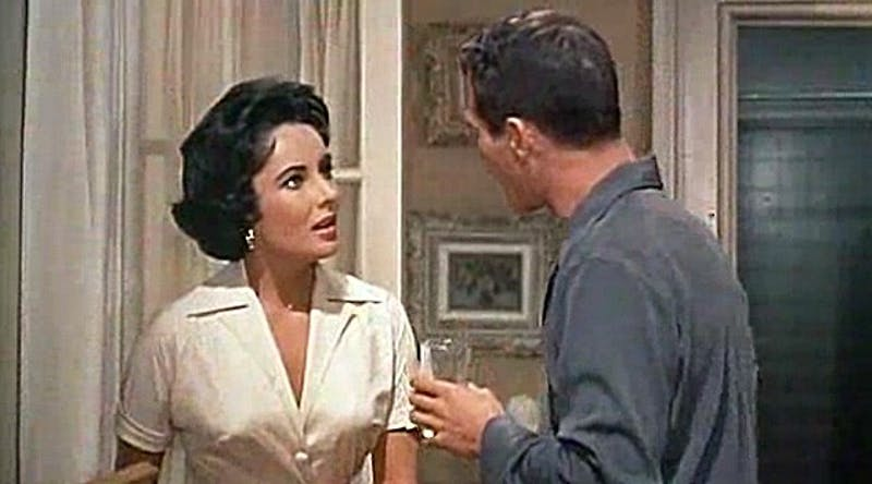 PUBLIC DOMAIN Elizabeth Taylor starred in a film version of Cat on a Hot Tin Roof in 1958.