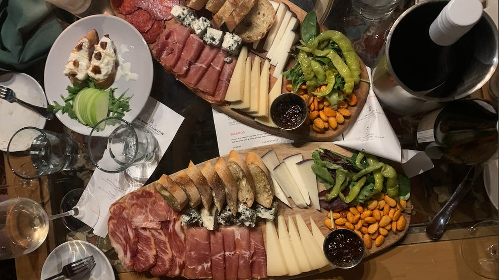 COURTESY OF EUNICE PARK The Wine Collective boasts an impressively delicious assortment of food —definitely don't skip out on the charcuterie boards.