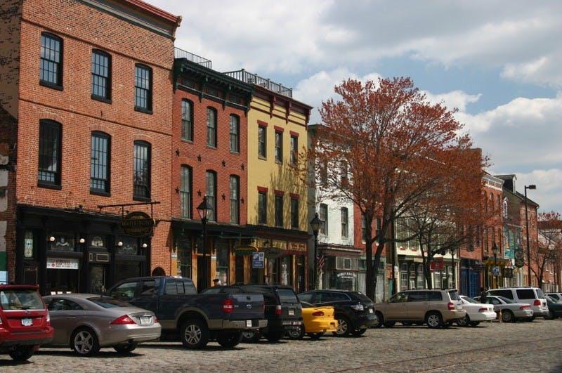 PUBLIC DOMAIN On Saturdays, Fell's Point boasts one of the best farmers' markets.