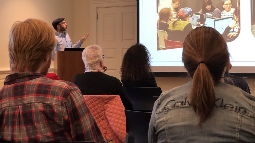 COURTESY OF JAKE LEFKOVITZ Persico spoke on the crises in Jewish Israeli identities for the Jewish Studies Program.