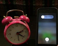 COURTESY OF DIVA PAREKH This little pink alarm clock was the only way Parekh could tell time.