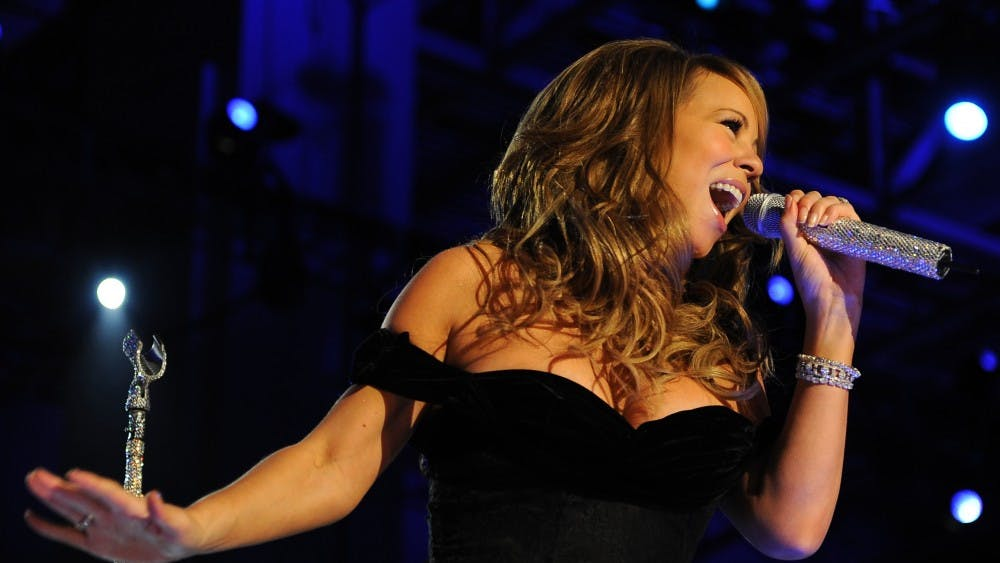 UZANNE M DAY /CC-PD-Mark Singer Mariah Carey performs her classic Christmas song every year.