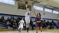 HOPKINSSPORTS.COM The Jays defeated Swarthmore 65-46 Saturday.