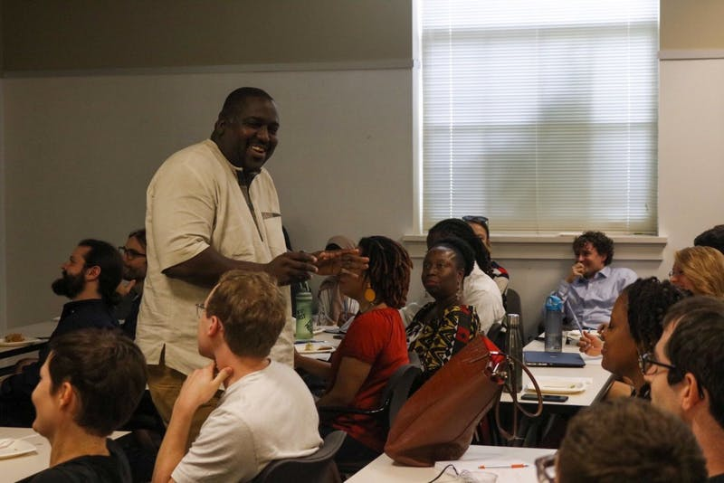 EDA INCEKARA/PHOTOGRAPHY EDITOR Prof. Lawrence Brown explained how to conduct ethical humanities research in Baltimore.