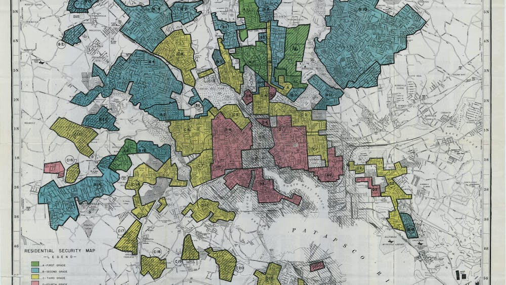PUBLIC DOMAIN To this day, Baltimore neighborhoods redlined by the Home Owners' Loan Corporation in the 1930s are structurally disadvantaged.