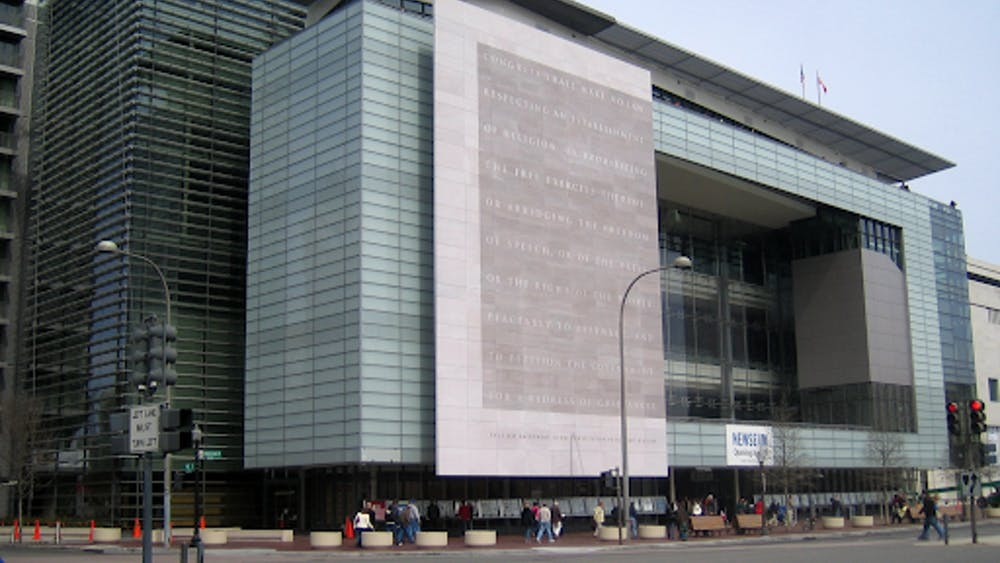 NativeForeigner/CC BY-SA 3.0 US The Newseum building, located in Washington DC, was purchased by Hopkins in January 2019.