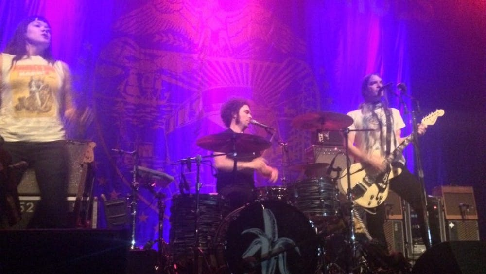 COURTESY OF KATHERINE LOGAN The Dandy Warhols were in action at Rams Head Live on Sept. 27.