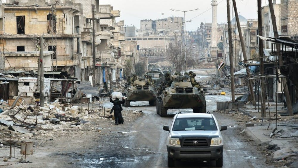 Ministry of Defence of the Russian Federation / CC BY 4.0 The Syrian airstrikes responded to the use of chemical weapons.