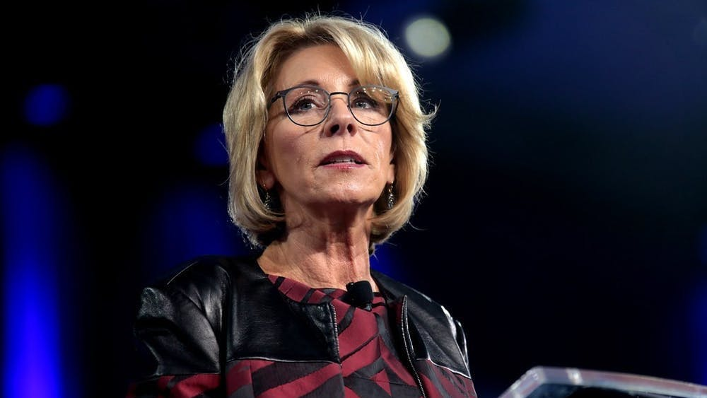 """GAGE SKIDMORE/CC BY-SA 2.0 U.S. Secretary of Education Betsy DeVos' """"Final Rule"""" became effective on August 14."""