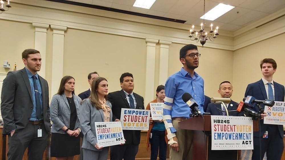 COURTESY OF RISHI SHAH A bill to encourage college students to register to vote failed to pass.