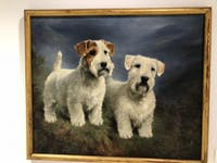 "COURTESY OF RUDY MALCOM The museum features ""Sealyham Terrier Head Studies"" by Lilian Cheviot."