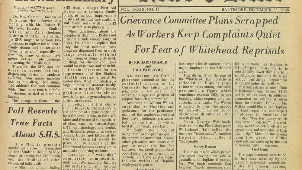 COURTESY OF THE UNIVERSITY ARCHIVES — SHERIDAN LIBRARIES The News-Letter has been a staple of University life for 125 years.