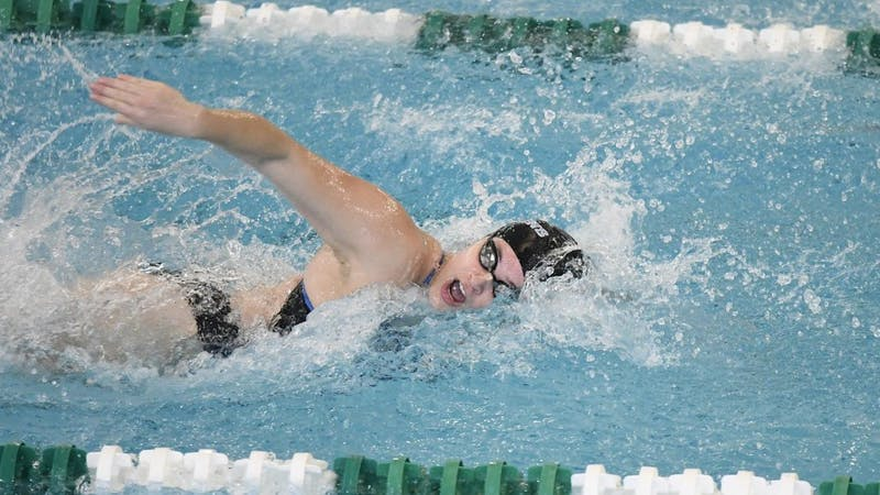Freshman Kristen Alicea-Jorgensen posts NCAA B cut time during weekend meet.