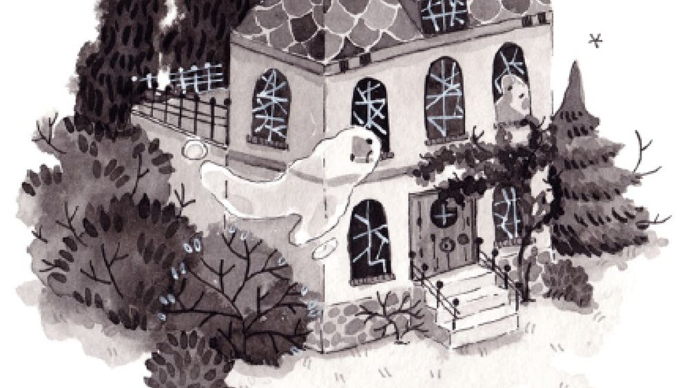 OXPAL/cc-by-sa-3.0 Artist Lauren Wilmshurst inked this spooky haunted house as part of the annual Inktober challenge.