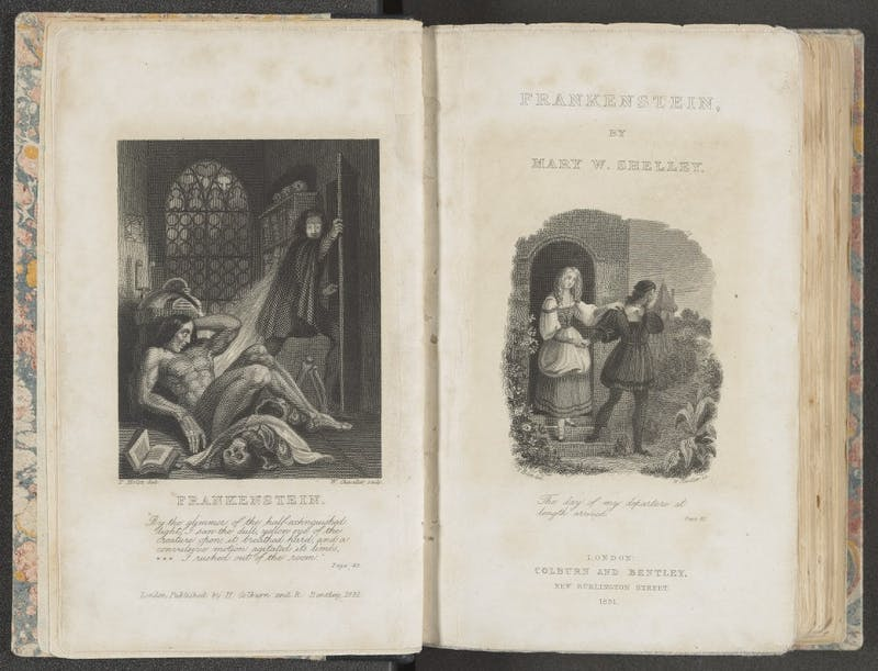 COURTESY OF SHERIDAN LIBRARIES Frankenstein, written by Mary Shelley, has been adapted since 1817.