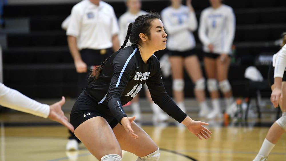 HOPKINSSPORTS.COM Volleyball continues to do the unprecedented, beating Ursinus in another Conference victory.