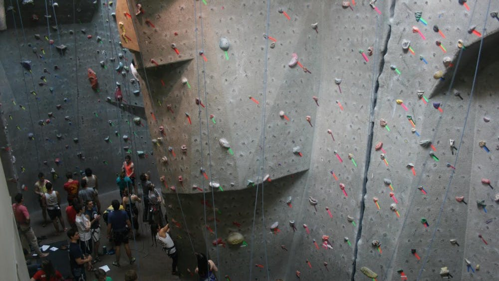 Courtesy of Veronica Reardon The climbing wall at Hopkins is located in the Recreation Center and is open for at least a few hours every day of the week.