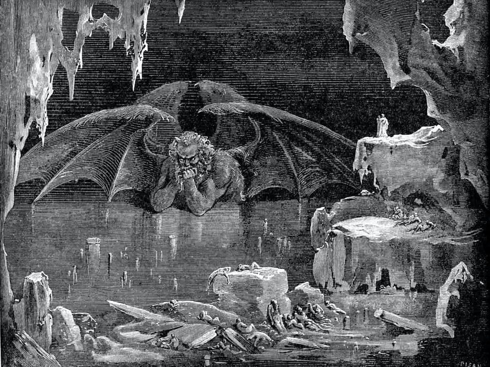Gustav Dore/Public Domain  Gustav Dore's famous 19th century engraving of Satan was inspired by Dante's Inferno.