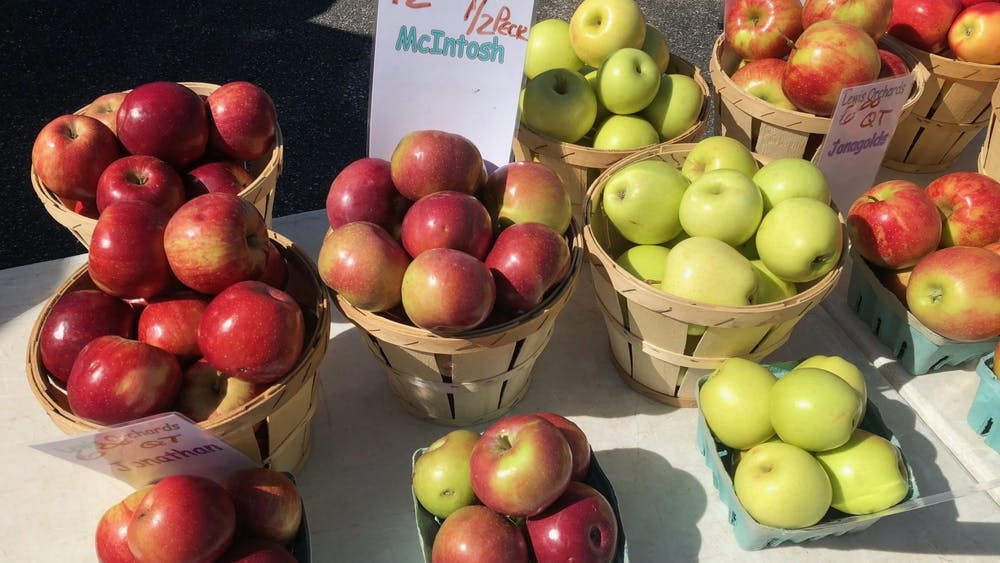 COURTESY OF CATE TURNER Rudy Malcom discusses the importance of the Waverly 32nd Street Farmers Market.