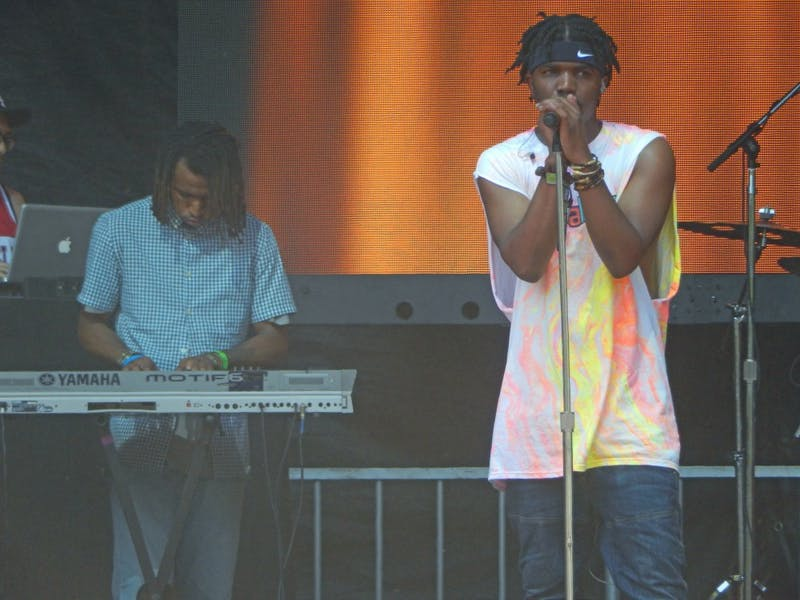 """SWIMFINFAN/CC BY-SA 2.0 St. Louis rapper Smino collaborated with producer Sango on """"Khlorine"""" and rapper Tobi Lou on """"Troop."""""""