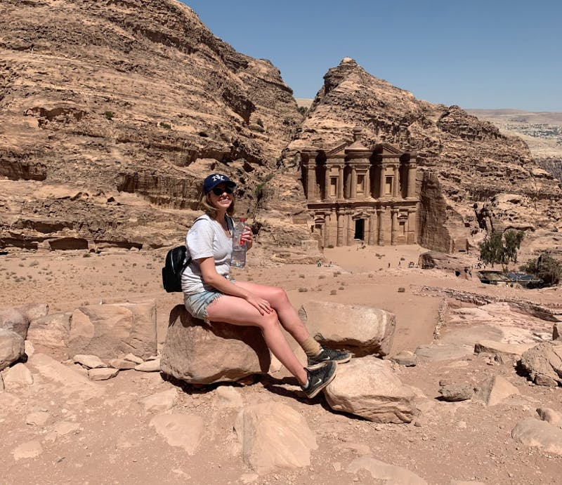 COURTESY OF GABI SWISTARA Swistara's trip to Jordan was one of her most memorable journeys abroad.