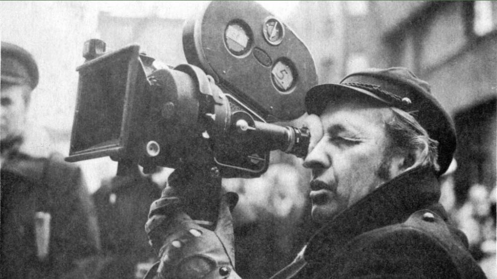 PUBLIC DOMAIN Polish director Andrzej Wajda shooting a film he directed in in 1974.