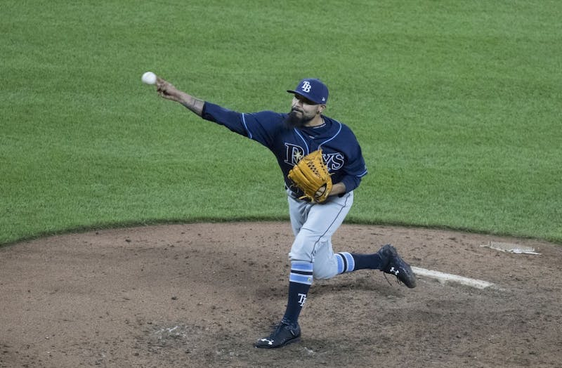 """KEITH ALLISON/CC BY-SA 2.0 The Rays first used Sergio Romo as their """"opener"""" on May 19 this year."""