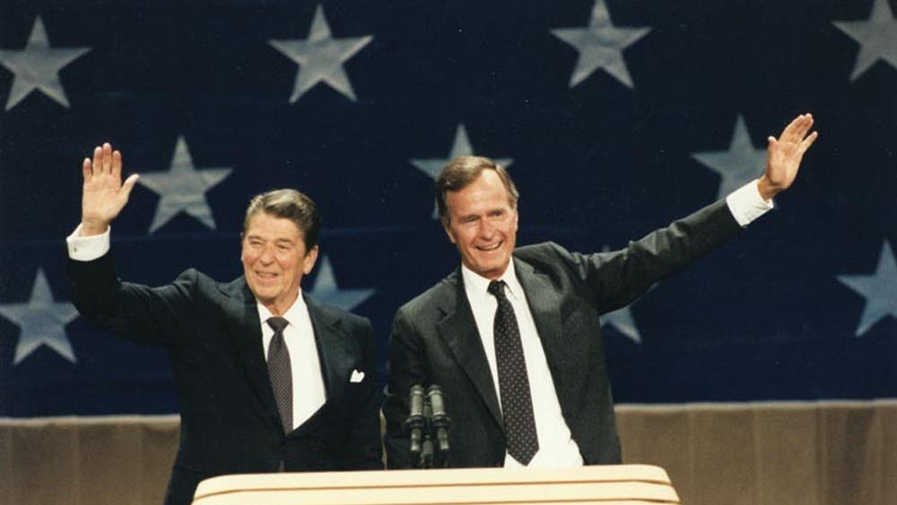 PUBLIC DOMAIN  Shade hopes Republicans will follow in the footsteps of leaders like Reagan and Bush.