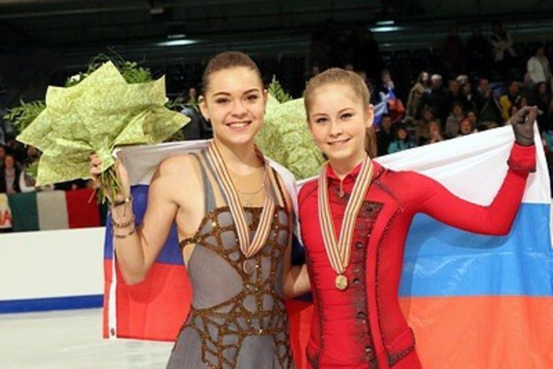 DAVID W. CARMICHAEL/ CC BY-SA 3.0 Lipnitskaya (right) retired from professional figure skating at just 19.