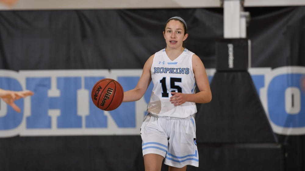 HOPKINSSPORTS.COM Lillian Scott led the Blue Jays with 17 points against McDaniel.