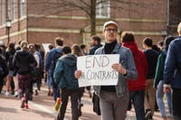 COURTESY OF STEPHANIE LEE For months, students called for the University to end its contracts with ICE.